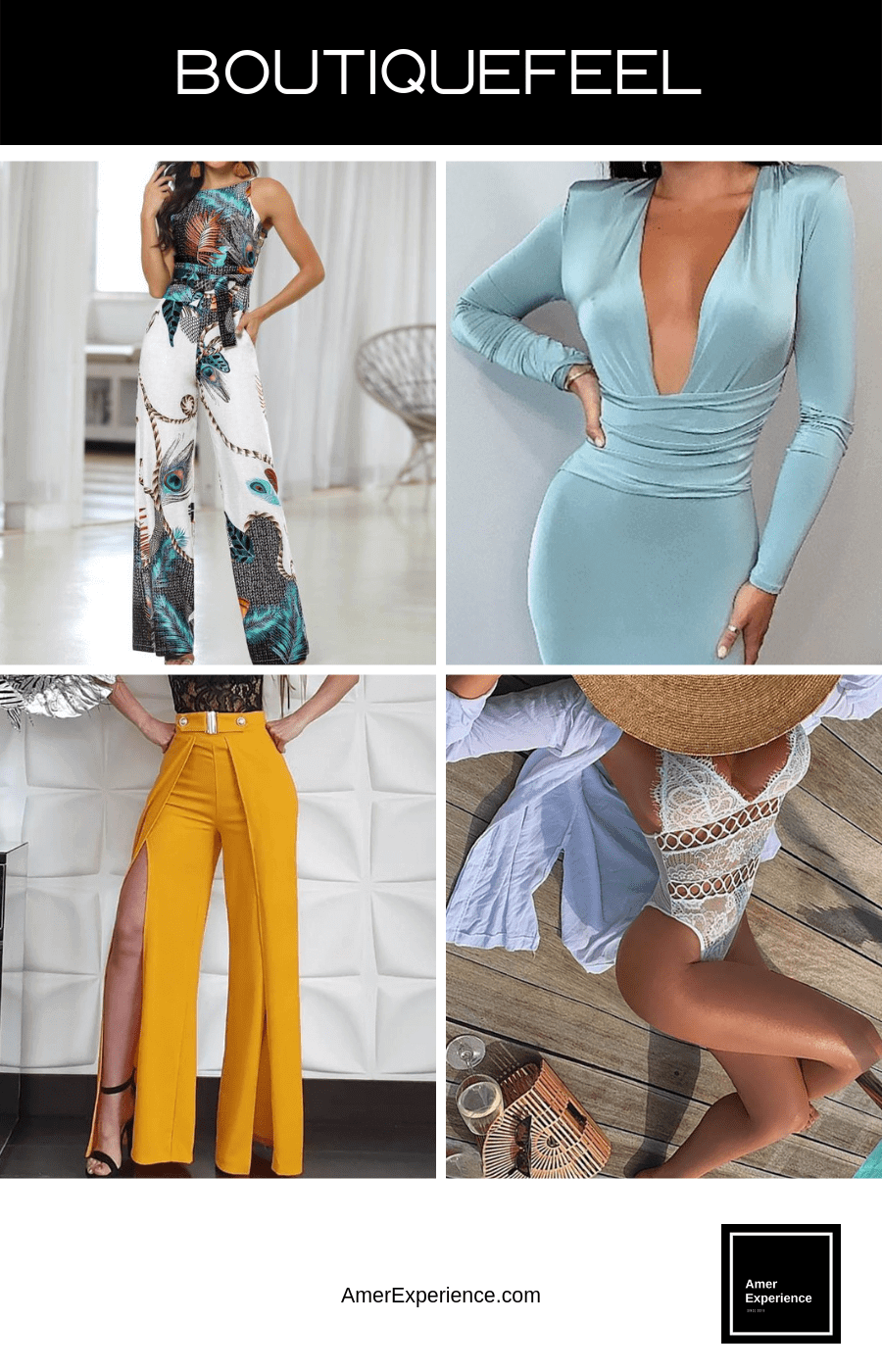 Boutiquefeel is a unique shopping website with a distinctive tone focusing on women's fashion. We offer high performance-price products including women's clothing, jewelry, beauty & health products, shoes, bags, and more. Our vision is bringing happiness into every woman's life. TOP FASHION ONLINE STORES