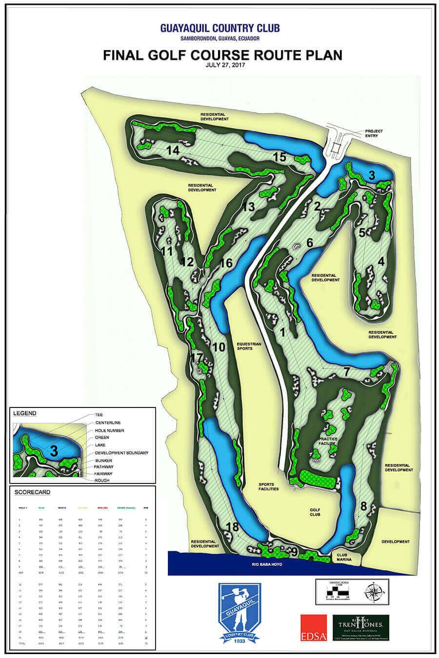 Final Golf Course Plan Guayaquil Country Club Samborondon Ecuador