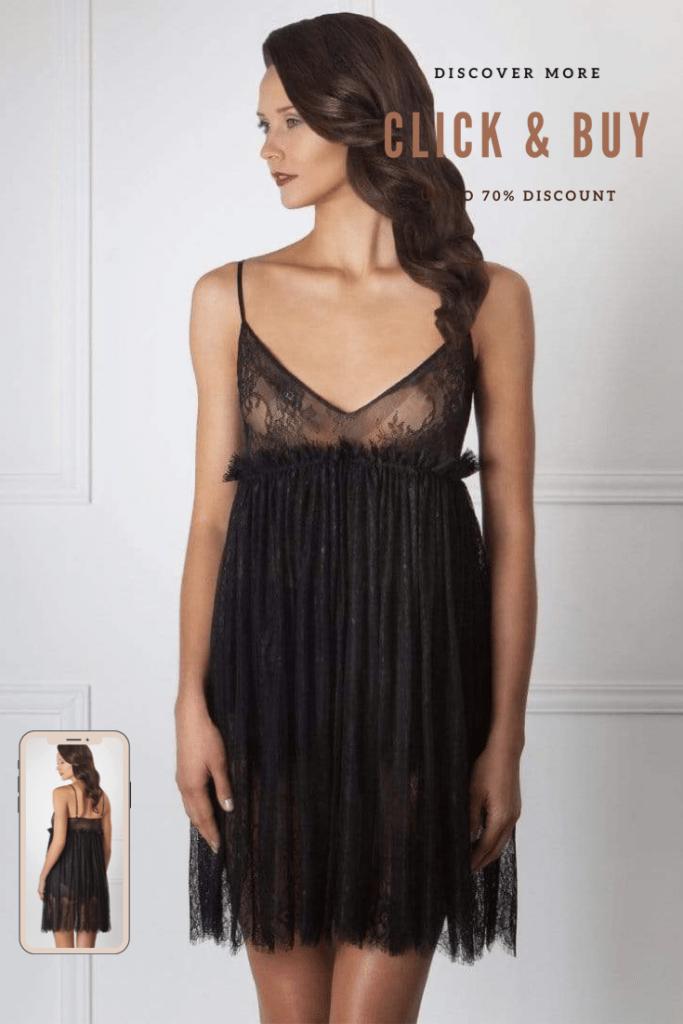 Lavinia Sexy Lingerie Design Lencería Black Elegant Transparent