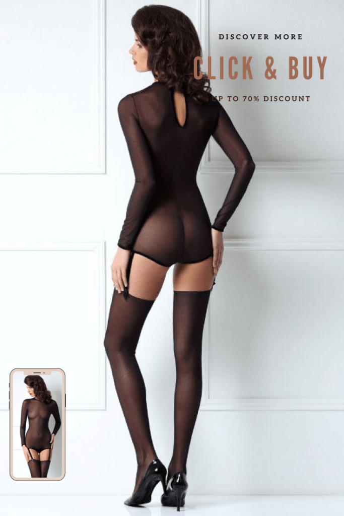 Lavinia Sexy Lingerie Design Lencería Straps Black Transparent