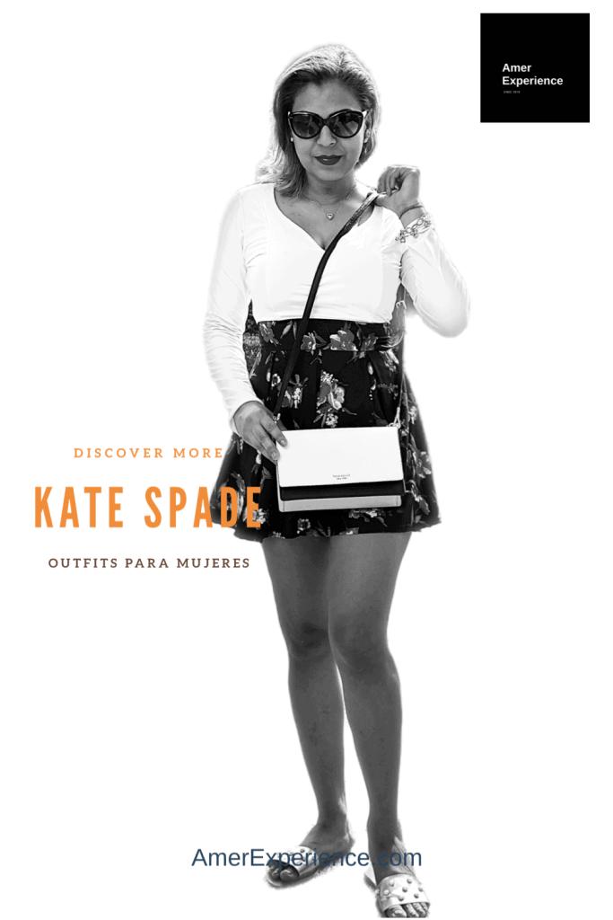 Designer Kate Spade New York bolsa y gafas Model Germania Romo