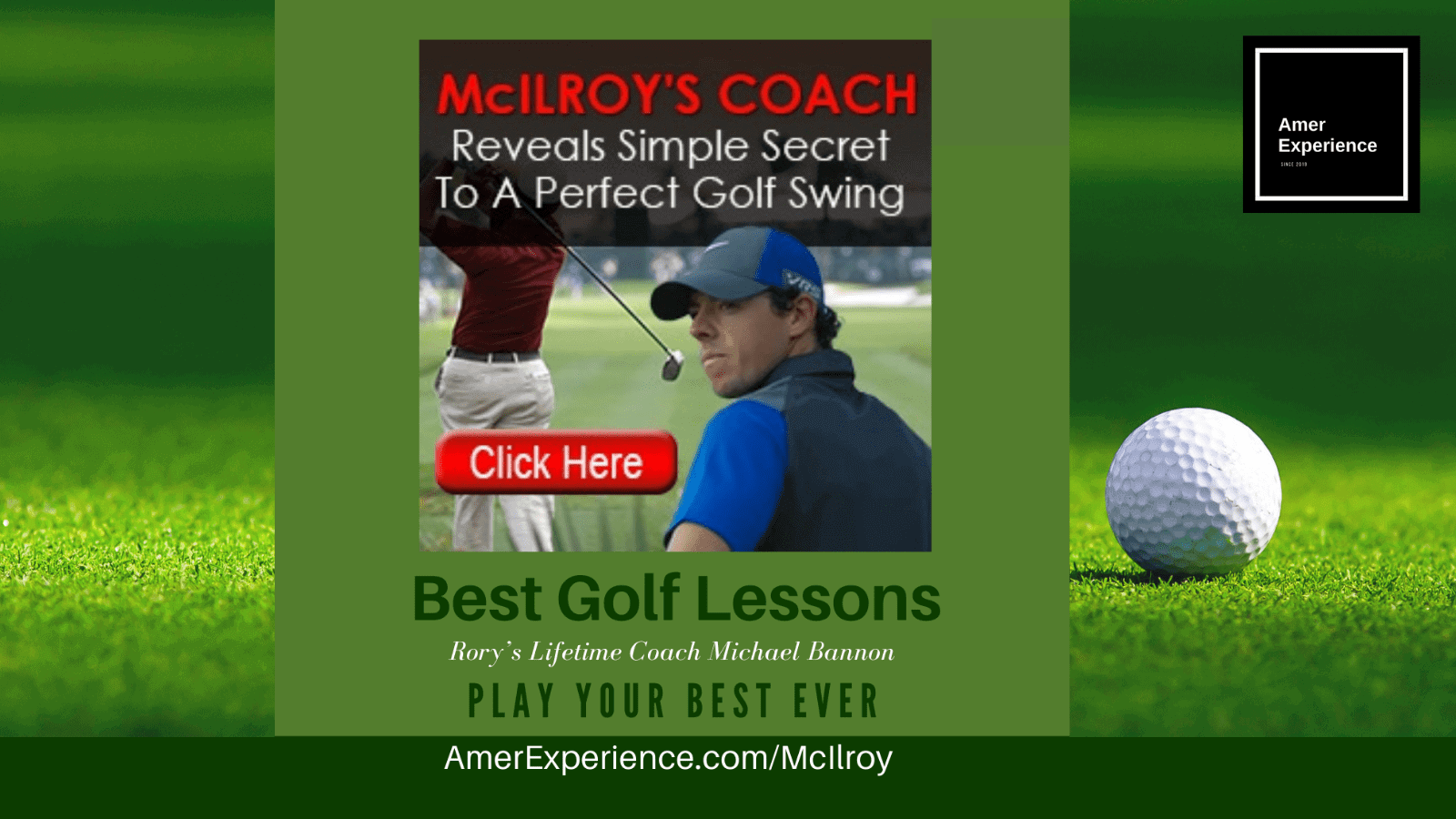 Michael Bannon swing coach 6-step golf lessons Rory Mcillroy