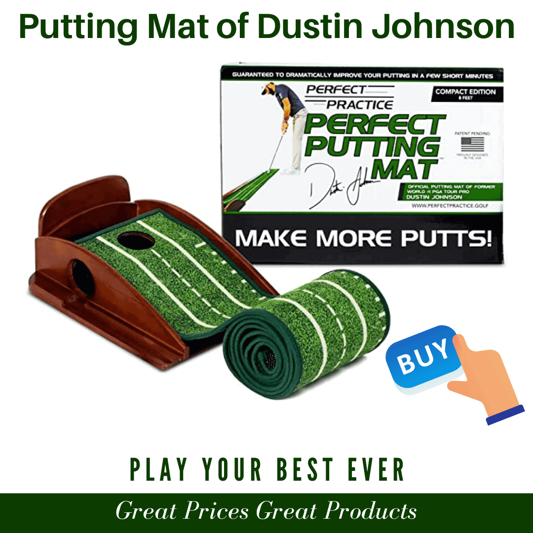 Official putting mat of Dustin Johnson