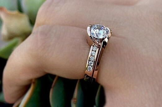 rose gold engagement rings barkev's
