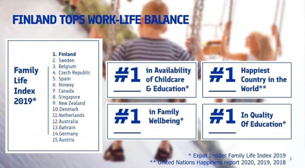 Finland Tops Work-Life Balance - Why To Do Business With Finland