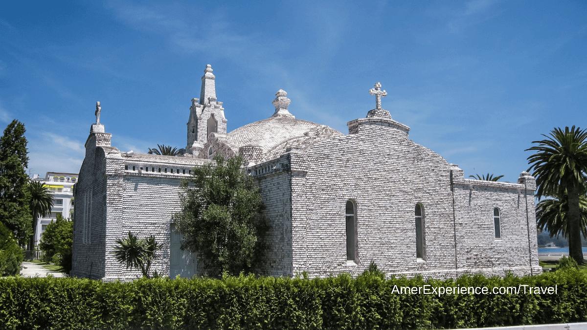 A church made of sea shells Calicia Isla La Toja Spain