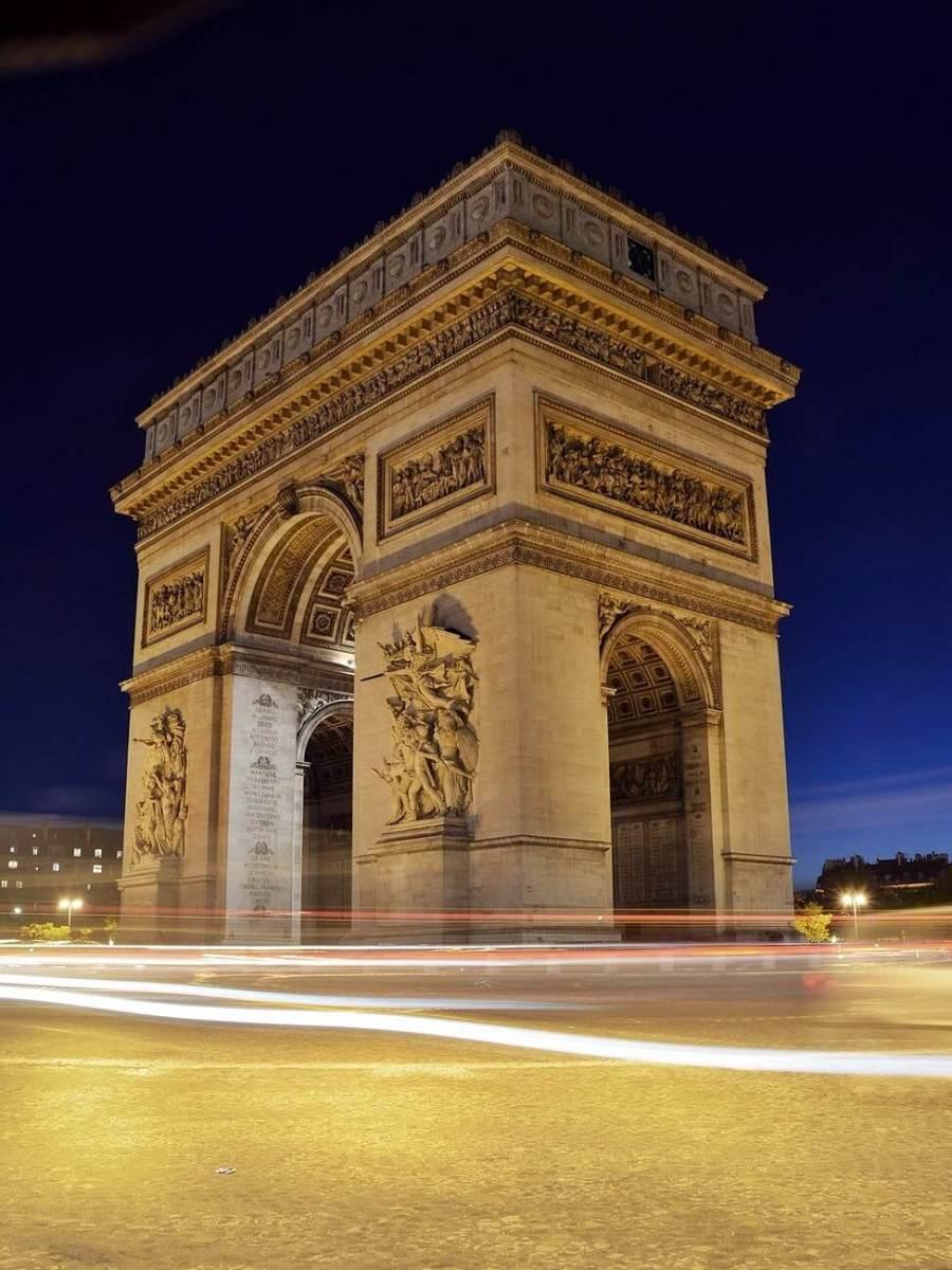 cars france landmark lights