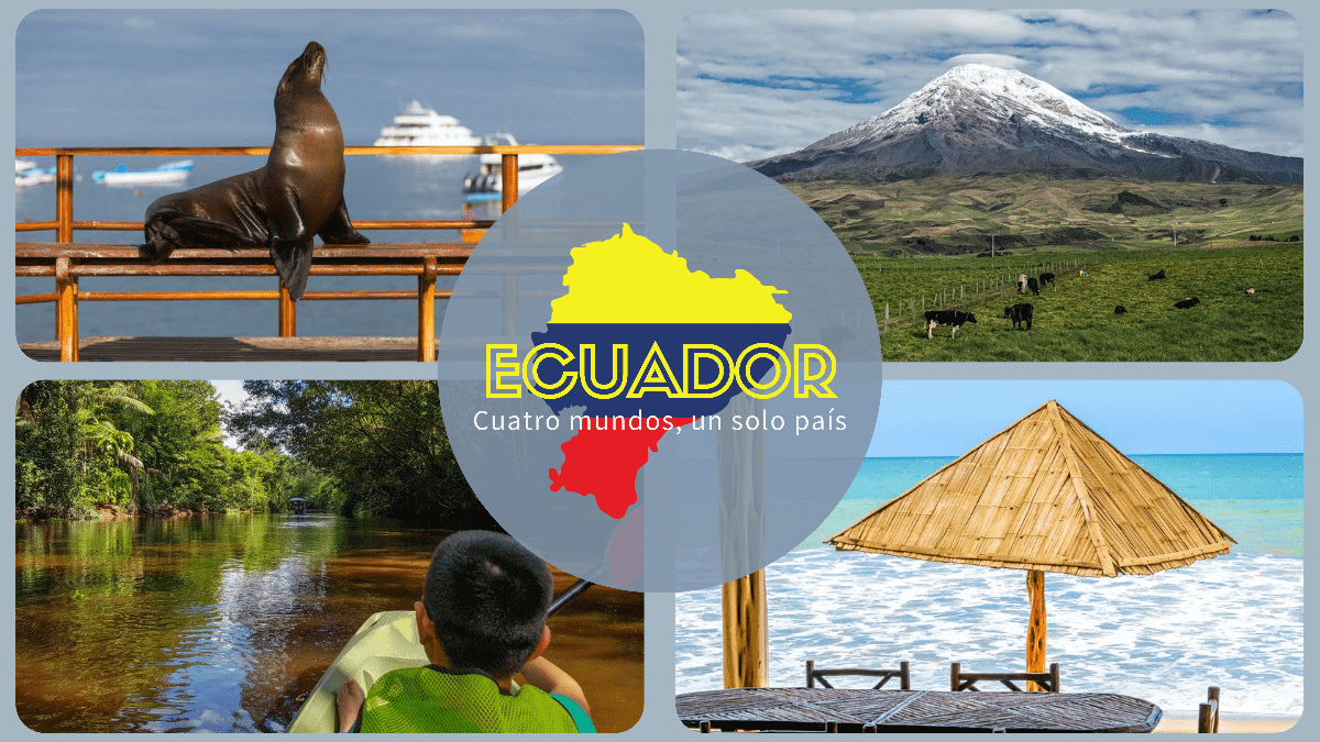 Ecuador viajes - Cuatro mundos, un solo pais